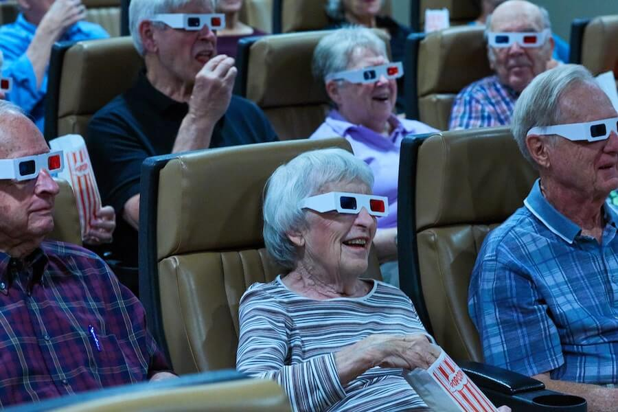 seniors with 3-d glasses