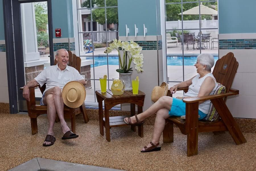 seniors sitting in chairs