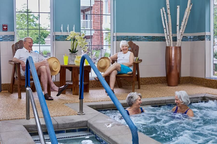Seniors in a pool