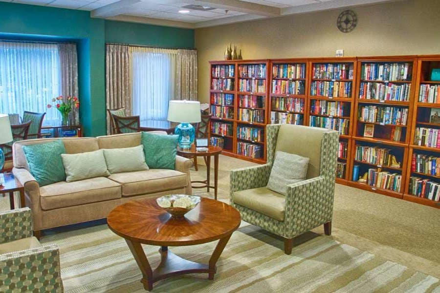 library and study at holly creek