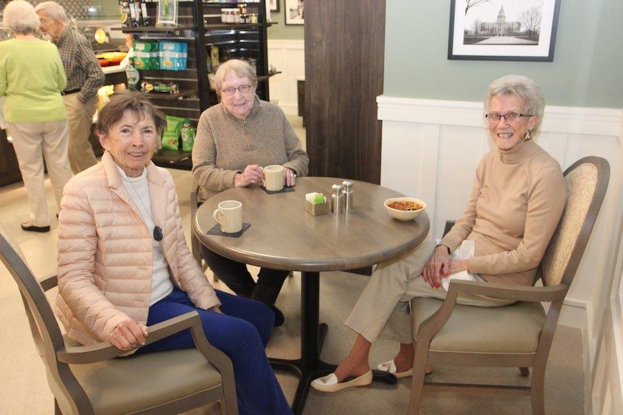 senior women having lunch
