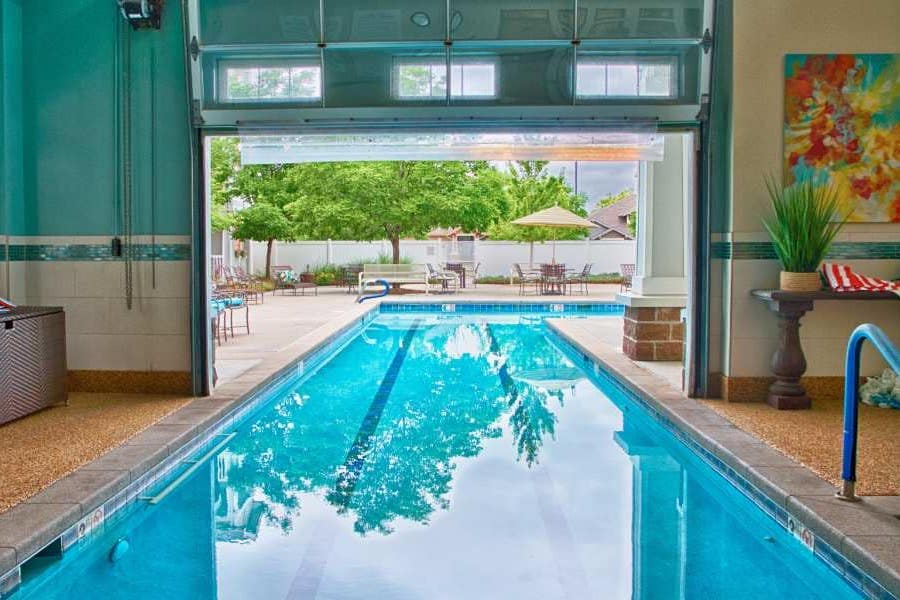 indoor outdoor pool at holly creek