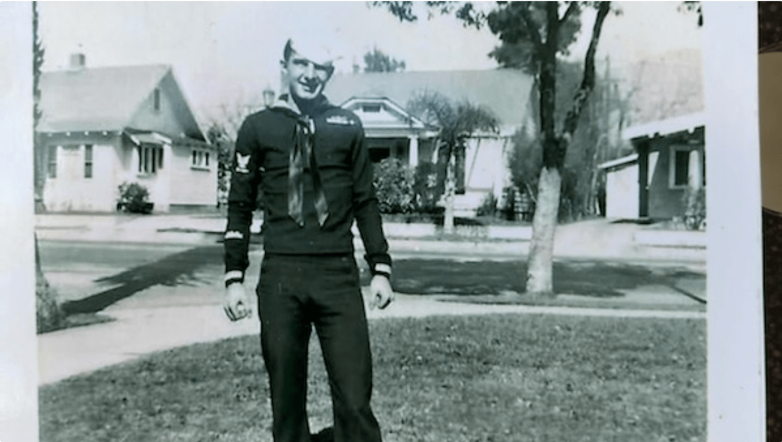 Old photo of navy soldier