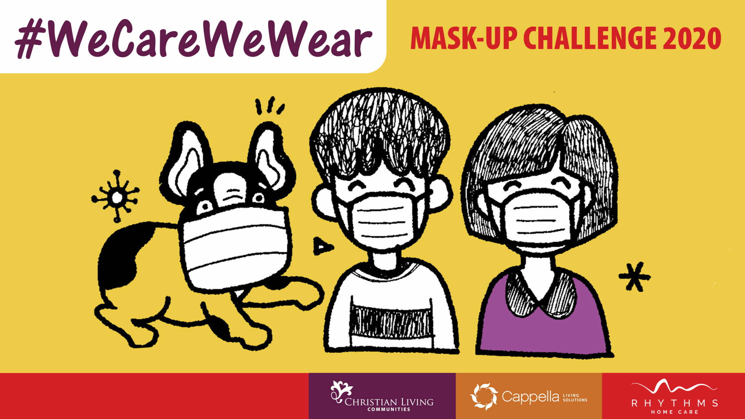 We Care We Wear Mask challenge poster
