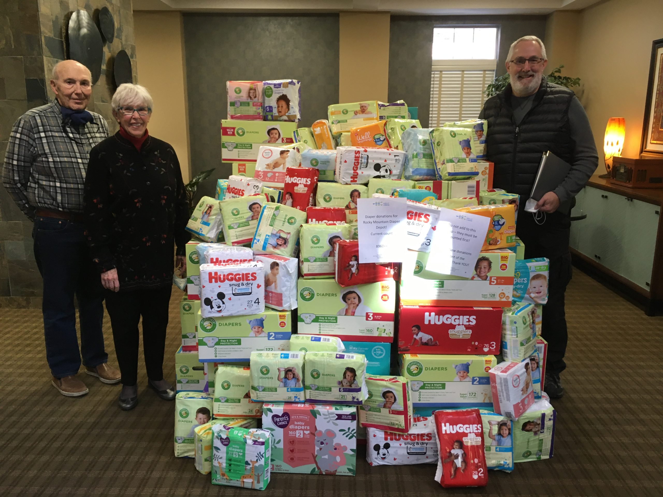 Successful diaper drive for babies in need