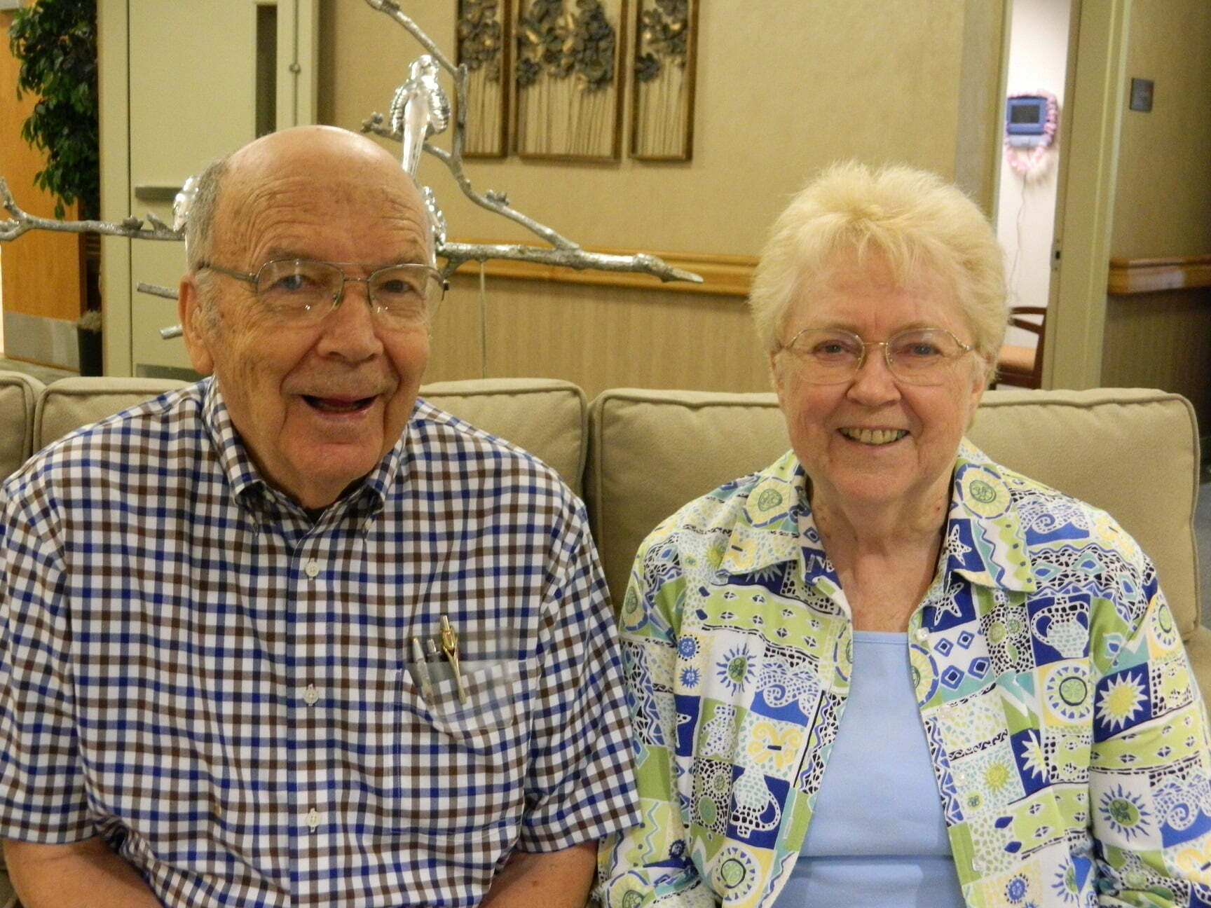 Dan and Fran Parker share about grandfather clock