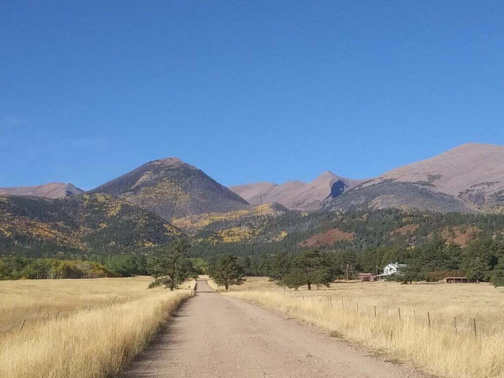 Prairie and mountain landscape